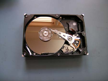 Image of open hard disk drive